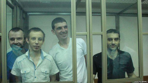 Крымчане во время суда