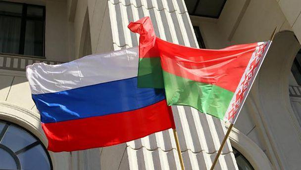 Прапори Росії та Білорусі