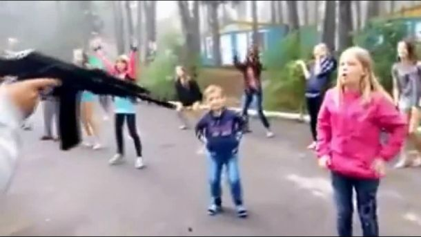 Боец АТО пытал детей вукраинском лагере