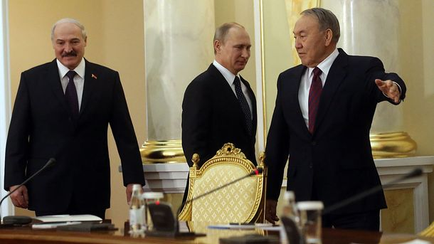 Олександр Лукашенко, Володимир Путін, Нурсултан Назарбаєв
