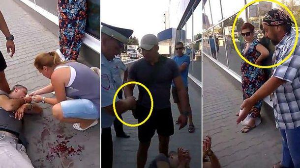 ВСевастополе мужчину избили затрезубец исимволику «Азова» навелосипеде