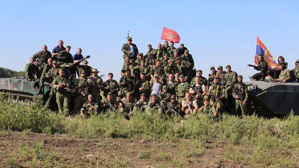 Юлия Чичерина с боевиками на Донбассе