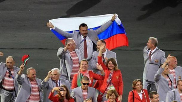 Андрій Фомочкін розгорнув прапор Росії на церемонії відкриття Паралімпійських ігор