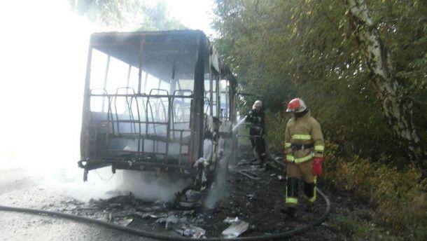 Рятувальники годину боролись з пожежею