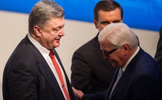 Петр Порошенко и Франк-Вальтер Штайнмайер