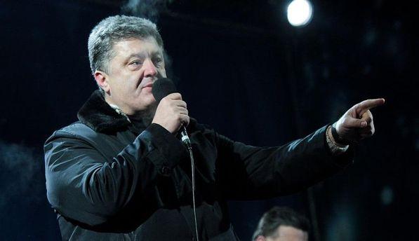 Петр Порошенко на Майдане