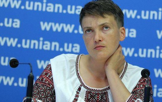 Савченко впервый раз прокомментировала скандальное интервью сШарием