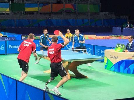 Украинская мужская команда понастольному теннису завоевала «золото» Паралимпиады