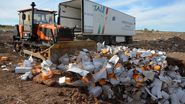 ВКрыму сожгли практически 2 тонны украинских ипольских колбас