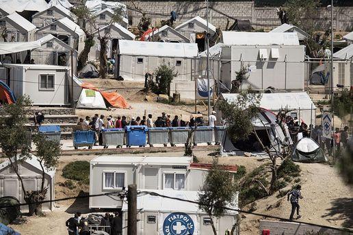 Лагерь для беженцев в Греции