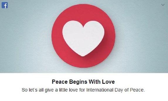 Facebook растрогал поздравлением ко Дню мира