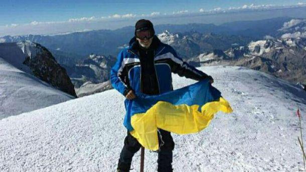 Украинский подполковник на Эльбрусе