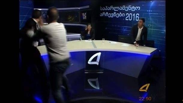 Кандидаты в депутаты подрались в прямом эфире