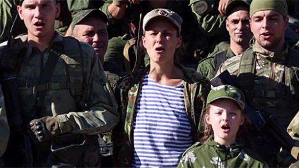 Юлія Чичеріна заспівала про бойовиків