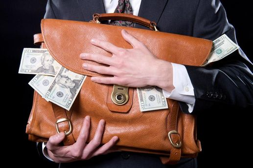 Портфель с деньгами