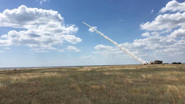 Запуск украинской ракеты