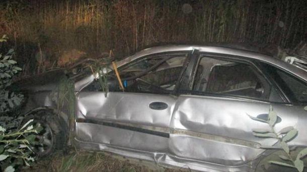 НаЗакарпатье автомобиль слетел вкювет: двое погибли, трое в клинике