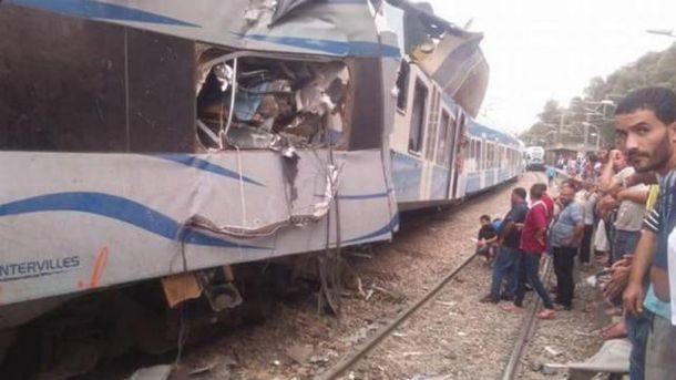 В Алжире столкнулись два пассажирских поезда