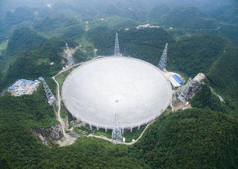 В КНР запустили крупнейший вмире радиотелескоп