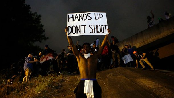 Протестувальники в місті Шарлотт