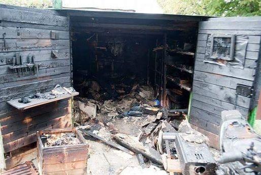 Сожженный гараж