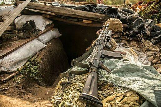 Блиндаж бойцов АТО на Донбассе