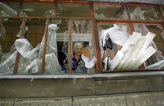 Разрушенное жилье на Донбассе