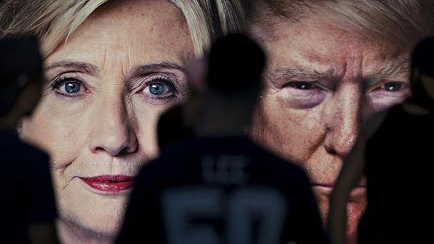 Клінтон vs  Трамп