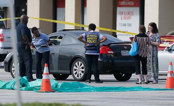 Место преступления в Хьюстоне