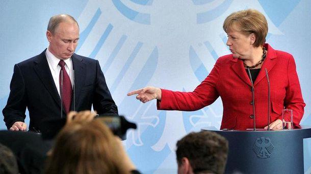 Ангела Меркель и Владимир Путин
