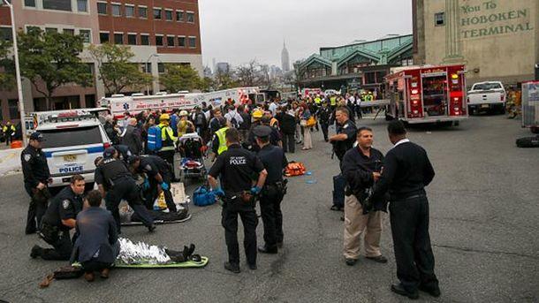 Авария поезда в Нью-Джерси