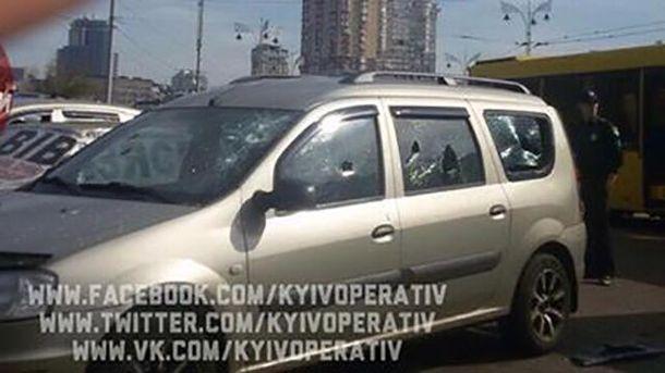 ВКиеве навокзале расстреляли авто