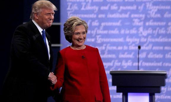 Клинтон согласно сведениям опросов опережает Трампа на5 пунктов