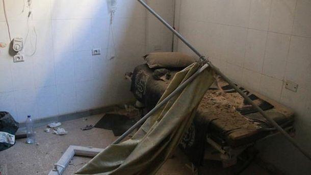 Уничтоженая больница в Сирии