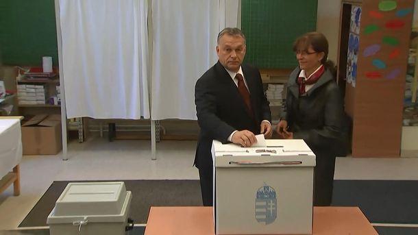 Виктор Орбан уже проголосовал