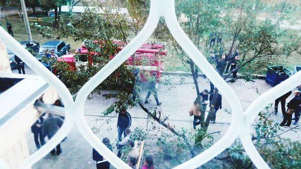 Місце трагедії в Харкові