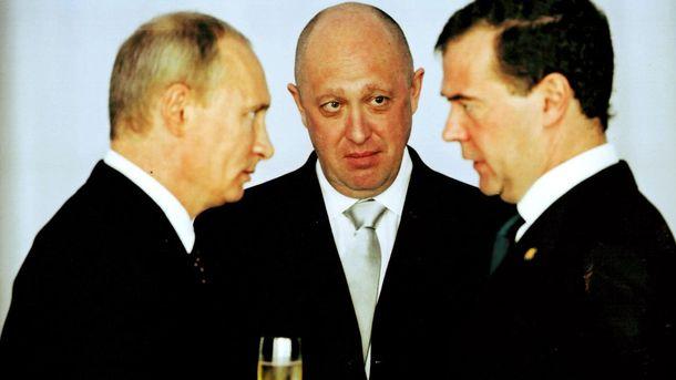 Владимир Путин, Евгений Пригожин, Дмитрий Медведев