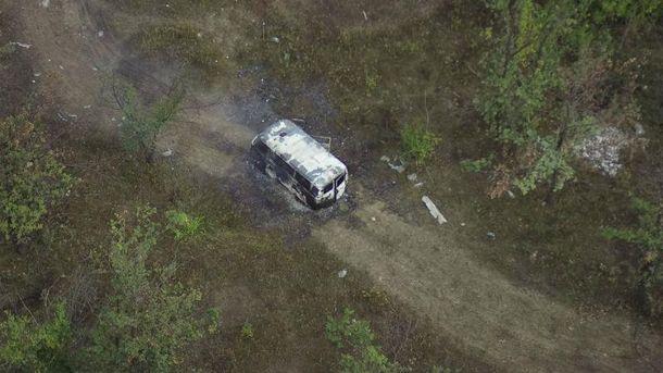 Маси Найем продемонстрировал фото сожженной боевиками машины скорой помощи