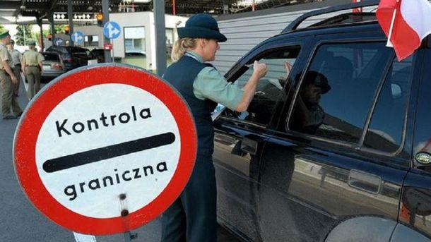 На границе с Польшей длинные очереди