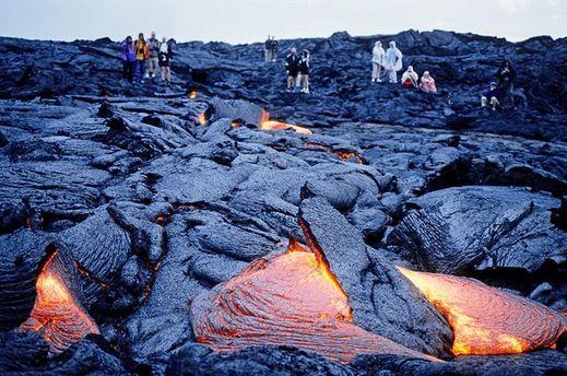 Вулканическая лава вулкана Килауэа