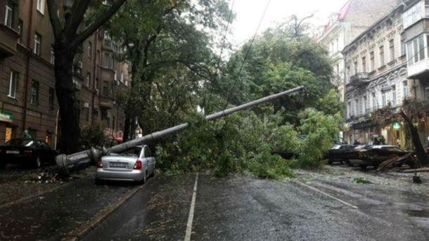 Наслідки зливи в Одесі