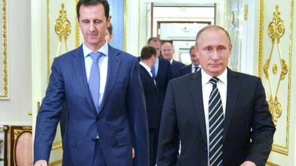 Башар Асад та Володимир Путін