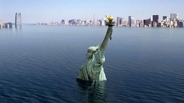 Затопленный Нью-Йорк (иллюстрация)