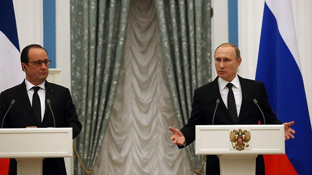 Франсуа Олланд и Владимир Путин