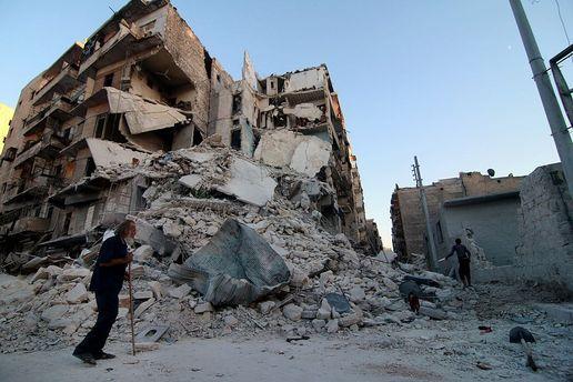 Разрушенные дома в Алеппо