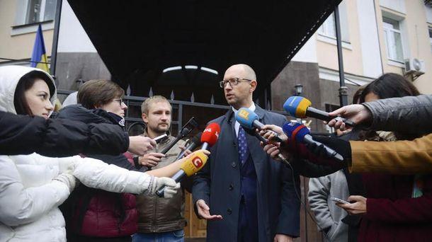 Арсений Яценюк дал показания по делу о преступлениях против Майдана