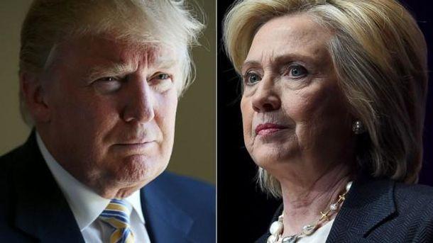 Дональд Трамп та Гілларі Клінтон