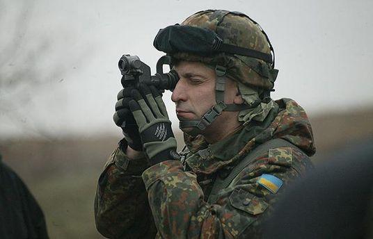 Украинский военный на Донбассе