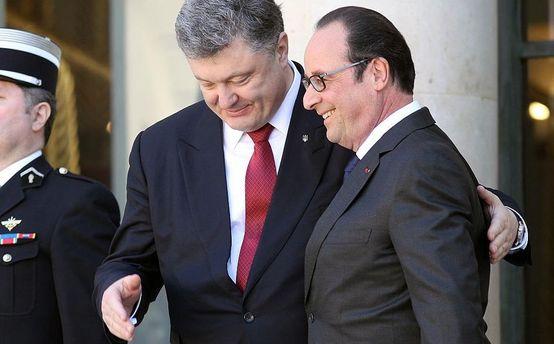 Петро Порошенко та Франсуа Олланд