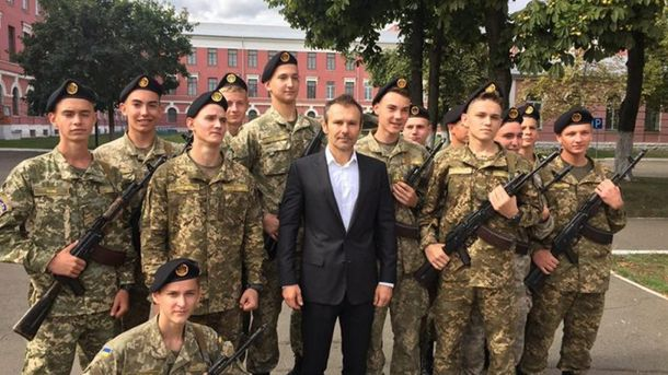 Вакарчук и воспитанники военного лицея им. Богуна